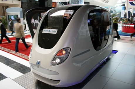 Personal Rapid Transit (PRT) prototype for the planned city of Masdar